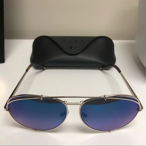 Diff Koko Gold Blue Flash Sunglasses